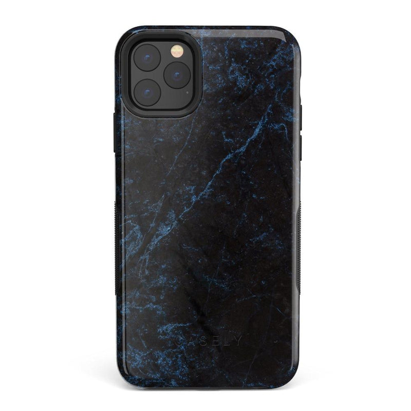 Midnight Marble Black & Navy Case iPhone Case Get.Casely Bold iPhone 11 Pro