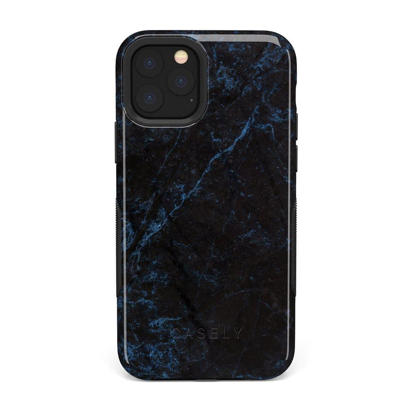 Midnight Marble Black & Navy Case iPhone Case Get.Casely Bold iPhone 11 Pro Max