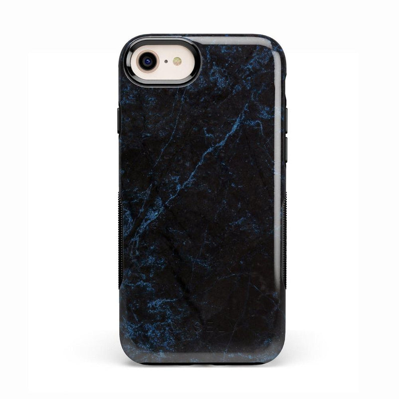 Midnight Marble Black & Navy Glitter Case iPhone Case Get.Casely Bold iPhone 8