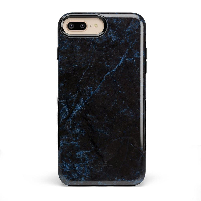Midnight Marble Black & Navy Glitter Case iPhone Case Get.Casely Bold iPhone 8 Plus