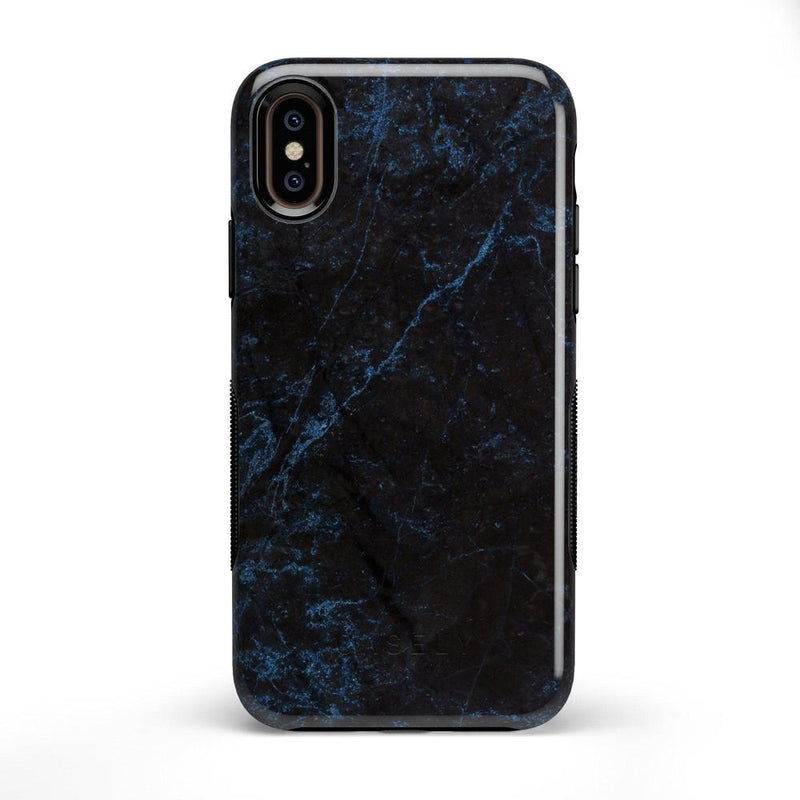 Midnight Marble Black & Navy Glitter Case iPhone Case Get.Casely Bold iPhone X / XS