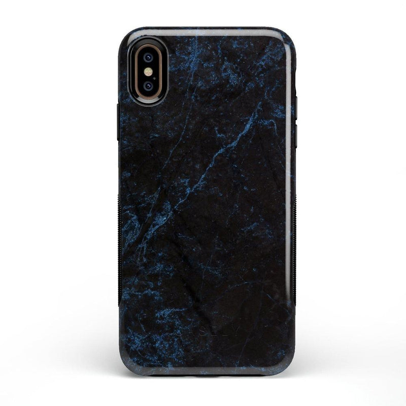 Midnight Marble Black & Navy Glitter Case iPhone Case Get.Casely Bold iPhone XS Max