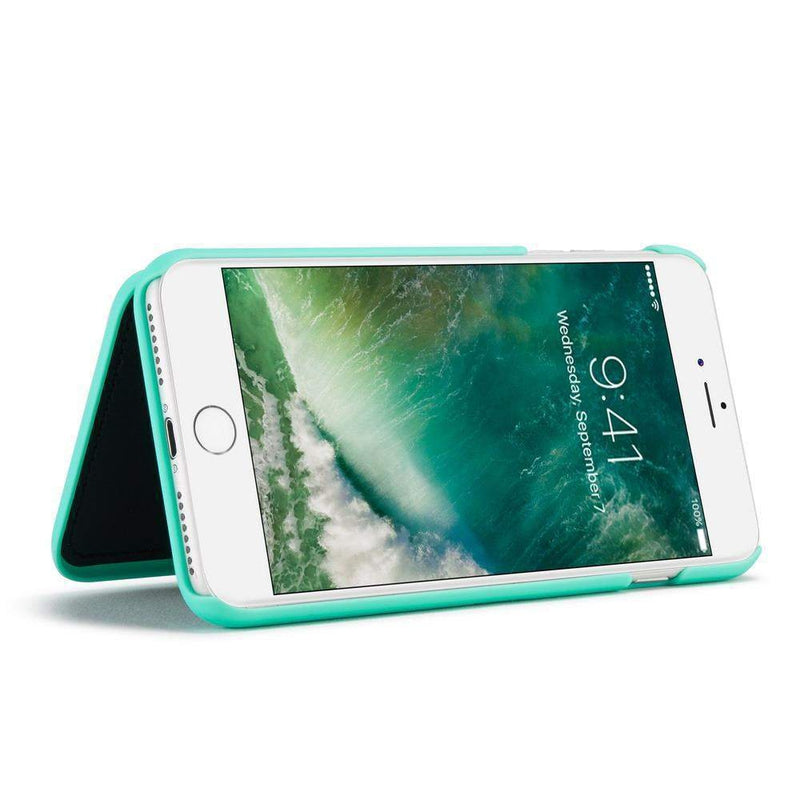 Mint Mirror + Wallet Flip Case iPhone Case get.casely