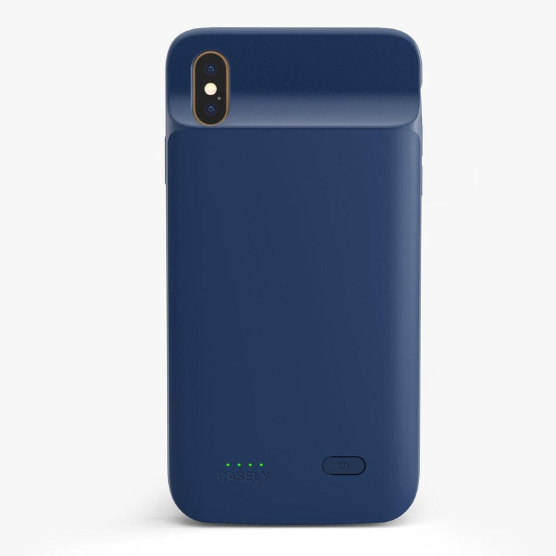 Navy Battery-Powered Charging Case iPhone Case get.casely Power 2.0 iPhone XS Max