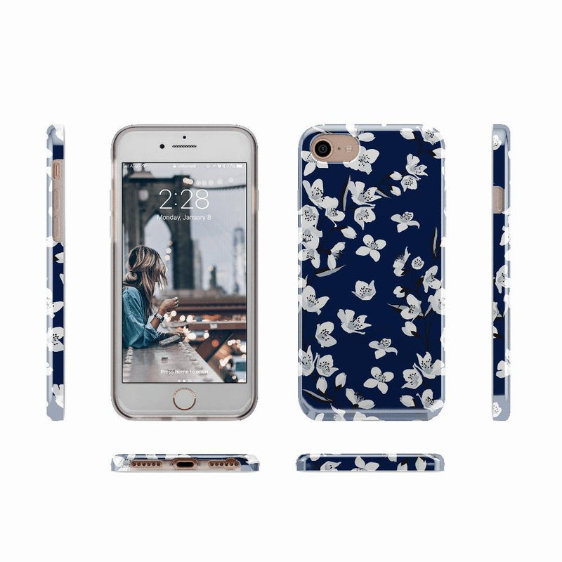 Navy Cherry Blossom Floral Case iPhone Case get.casely