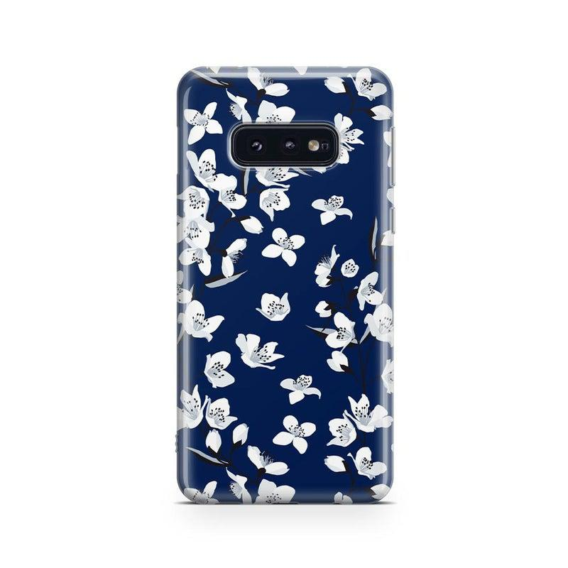 Navy Cherry Blossom Floral Case iPhone Case get.casely Classic Galaxy S10E
