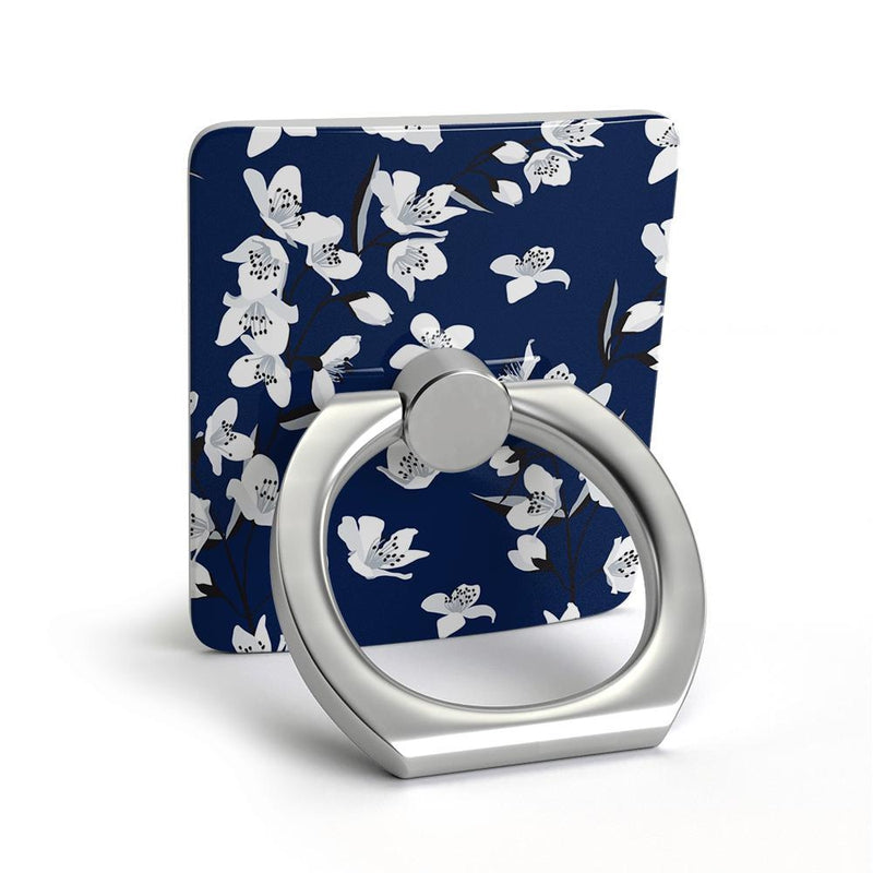 Navy Cherry Blossom Floral Phone Ring Phone Ring get.casely