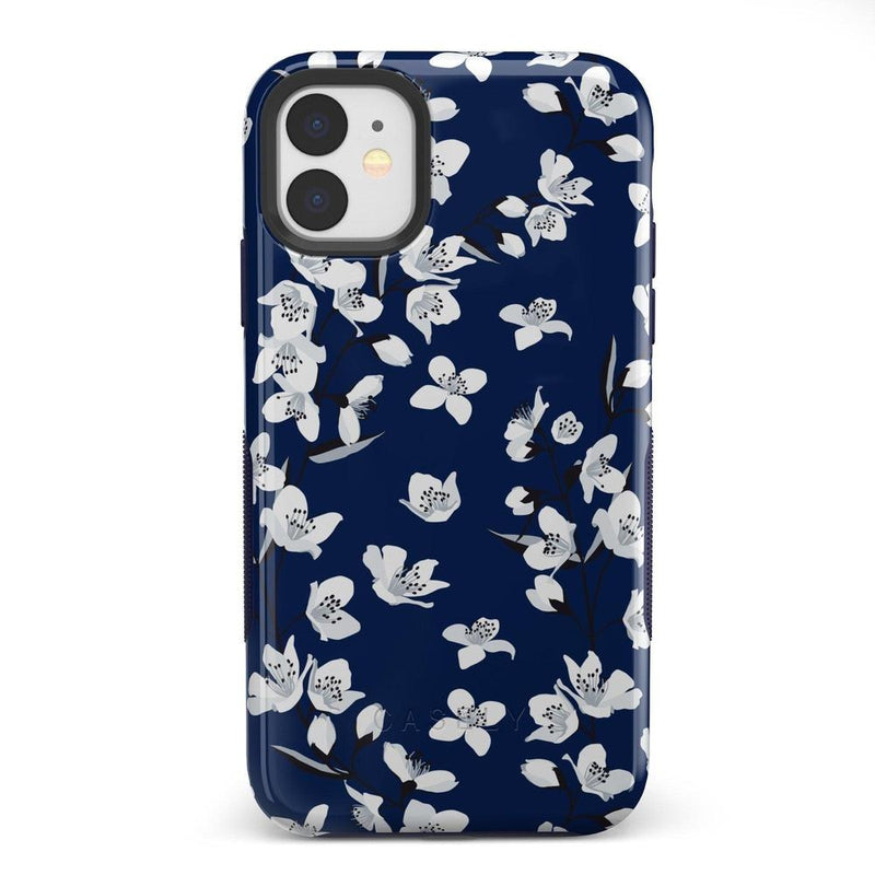 Navy Flower Power Floral Case iPhone Case Get.Casely Bold iPhone 11