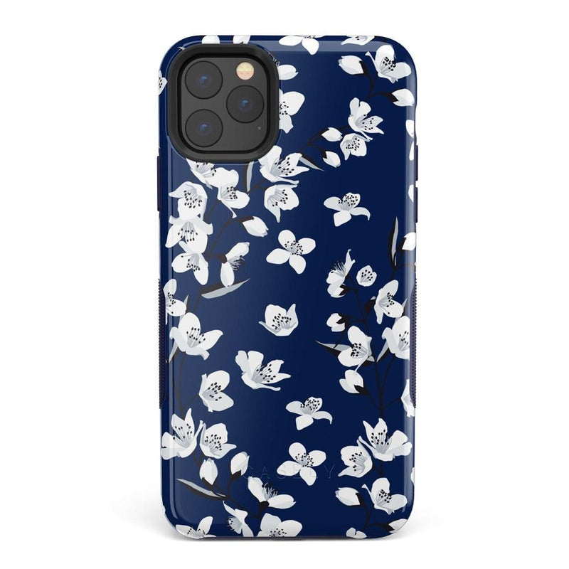 Navy Flower Power Floral Case iPhone Case Get.Casely Bold iPhone 11 Pro