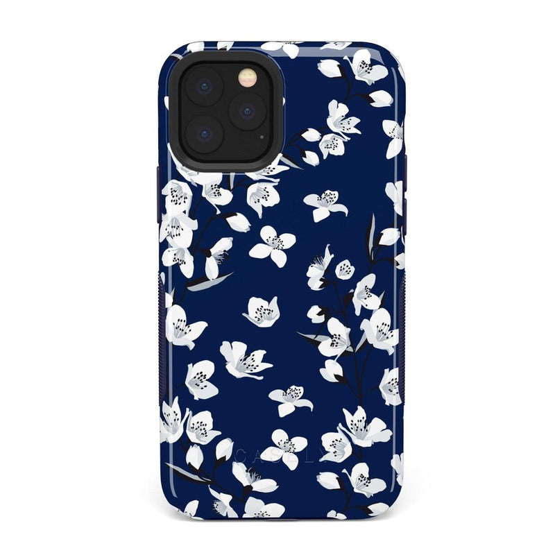 Navy Flower Power Floral Case iPhone Case Get.Casely Bold iPhone 11 Pro Max