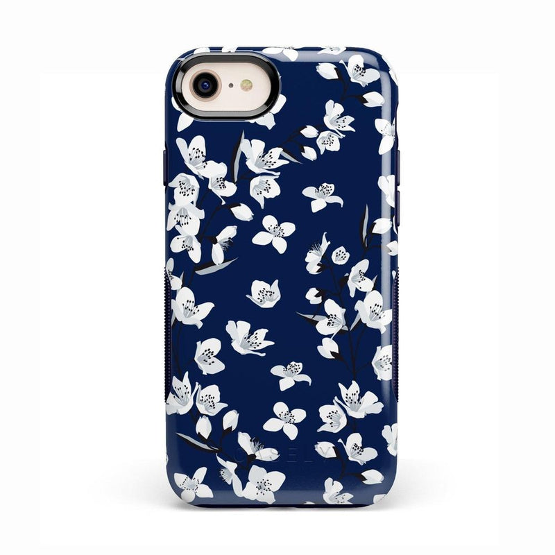 Navy Flower Power Floral Case iPhone Case Get.Casely Bold iPhone 8