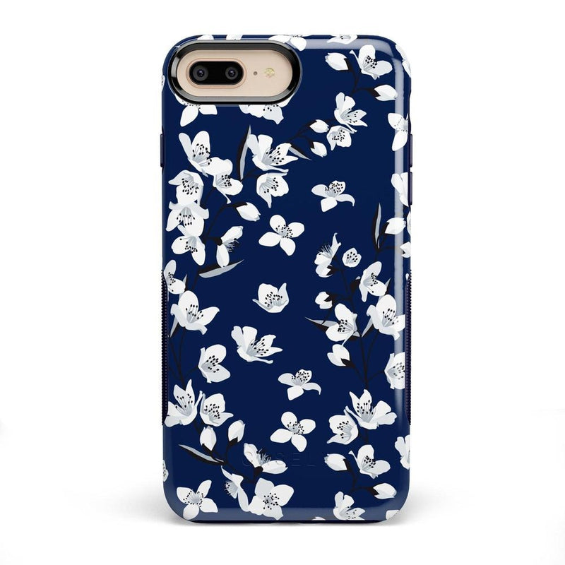 Navy Flower Power Floral Case iPhone Case Get.Casely Bold iPhone 8 Plus