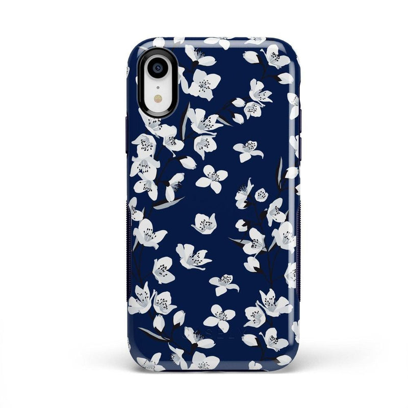 Navy Flower Power Floral Case iPhone Case Get.Casely Bold iPhone XR