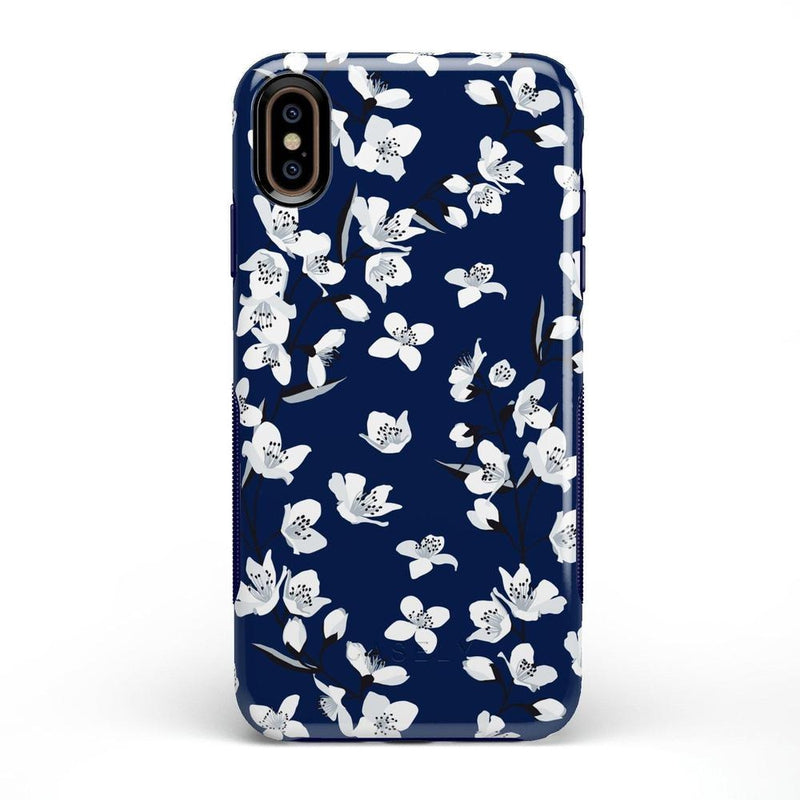 Navy Flower Power Floral Case iPhone Case Get.Casely Bold iPhone XS Max