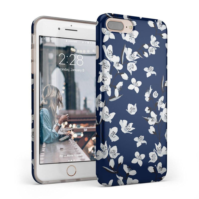 Navy Flower Power Floral Case iPhone Case Get.Casely Classic iPhone 6/6s Plus