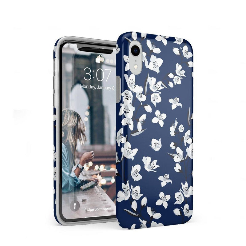 Navy Flower Power Floral Case iPhone Case Get.Casely Classic iPhone XR