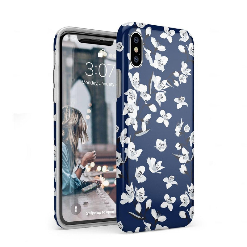 Navy Flower Power Floral Case iPhone Case Get.Casely Classic iPhone XS Max