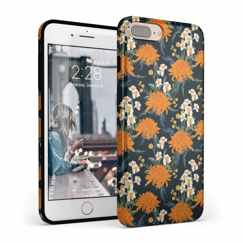 Off Tropic | Exotic Orange Flower Case iPhone Case Get.Casely Classic iPhone 8 Plus