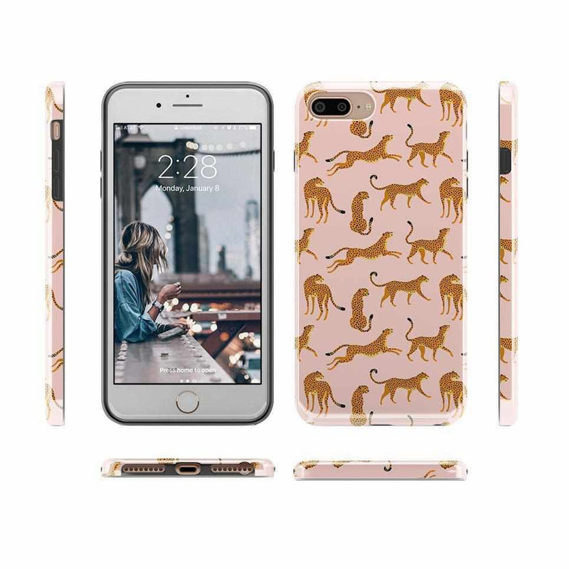 On the Prowl | Pink Leopard Print Case iPhone Case get.casely