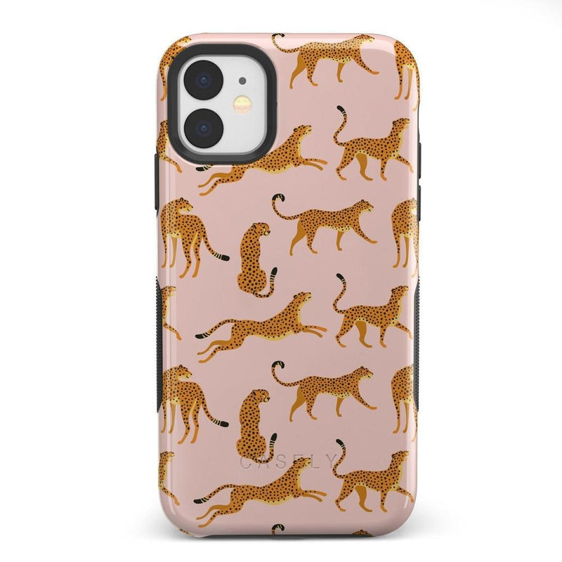 On the Prowl | Pink Leopard Print Case iPhone Case get.casely Bold iPhone 11