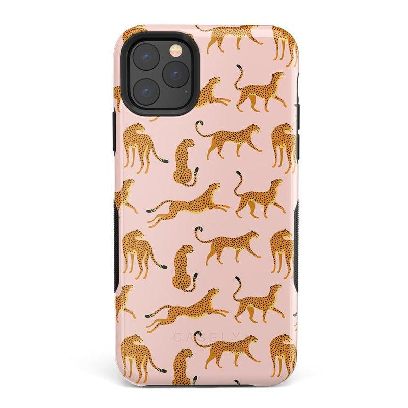On the Prowl | Pink Leopard Print Case iPhone Case get.casely Bold iPhone 11 Pro Max