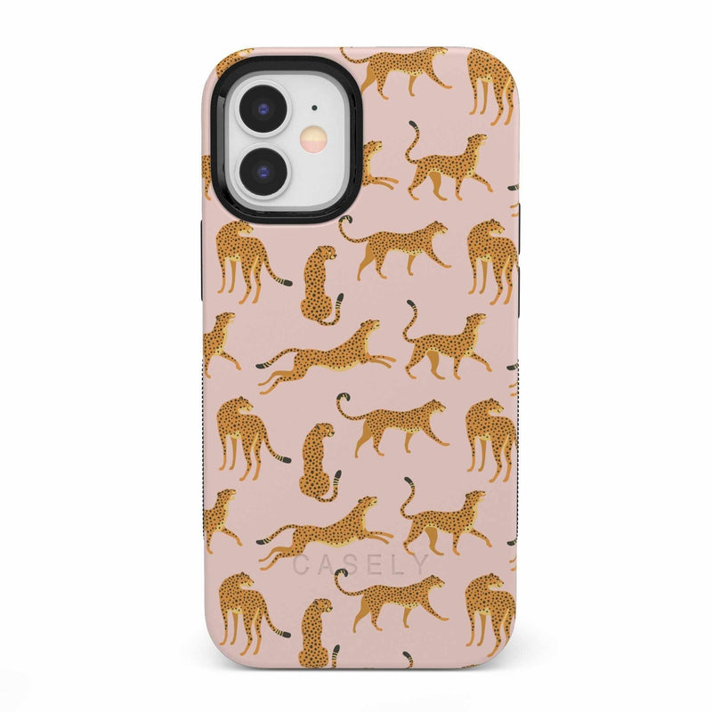 On the Prowl | Pink Leopard Print Case iPhone Case get.casely Bold iPhone 12 Mini
