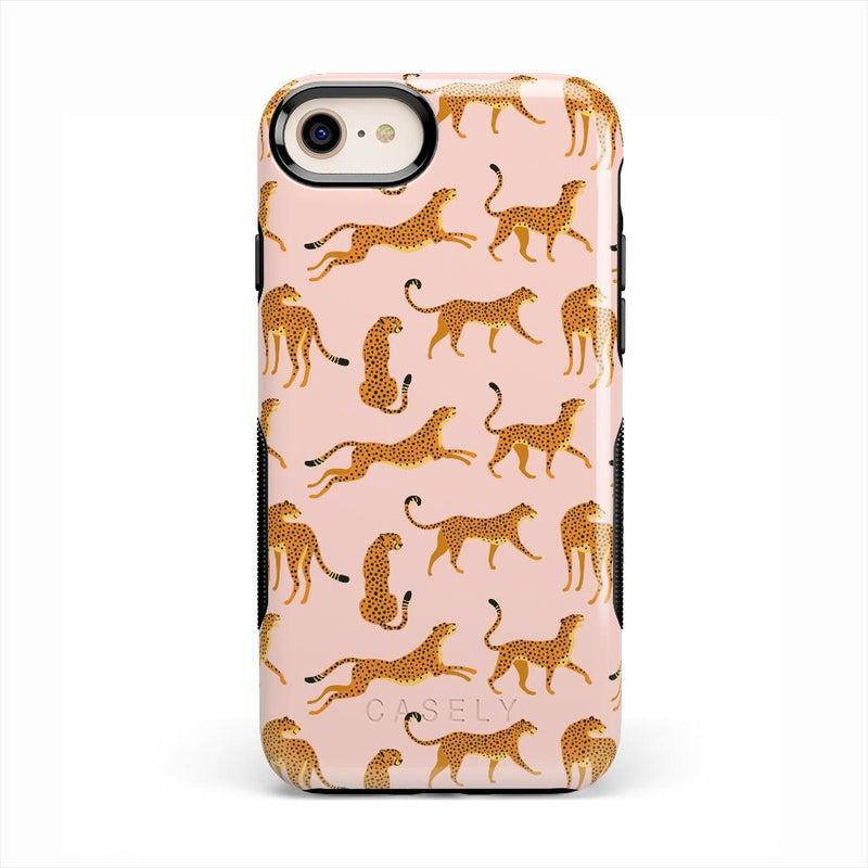 On the Prowl | Pink Leopard Print Case iPhone Case get.casely Bold iPhone 8