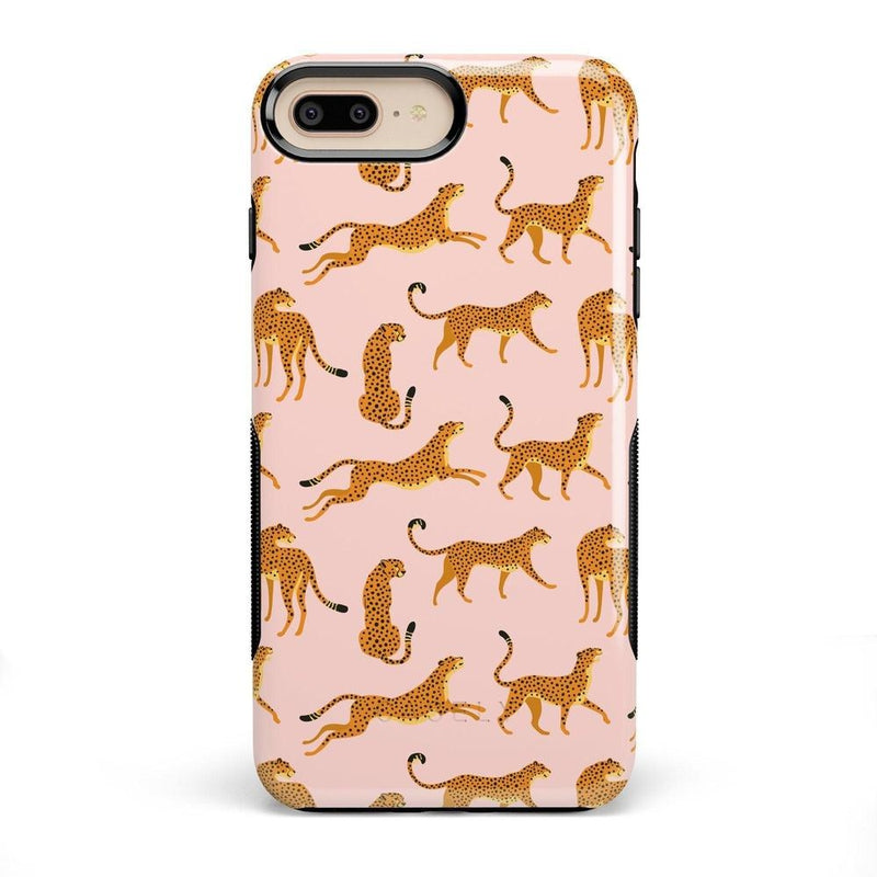 On the Prowl | Pink Leopard Print Case iPhone Case get.casely Bold iPhone 8 Plus