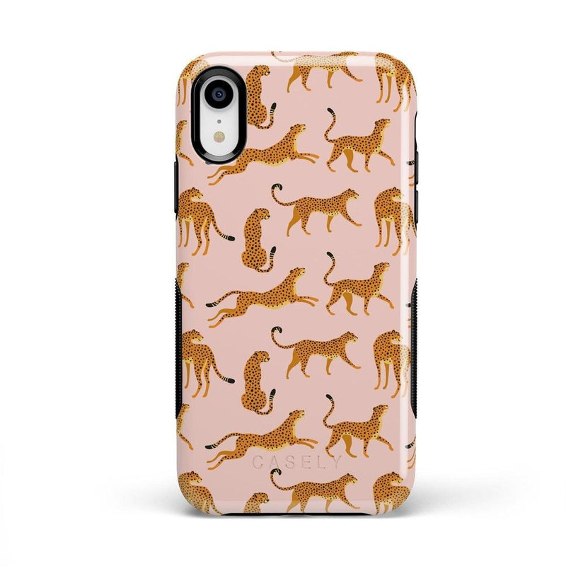 On the Prowl | Pink Leopard Print Case iPhone Case get.casely Bold iPhone XR