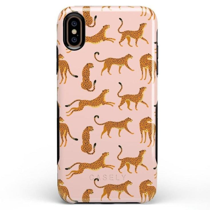 On the Prowl | Pink Leopard Print Case iPhone Case get.casely Bold iPhone XS Max