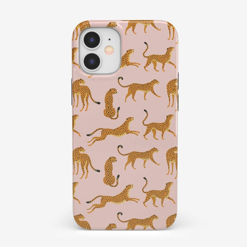 On the Prowl | Pink Leopard Print Case iPhone Case get.casely Classic iPhone 12 Mini