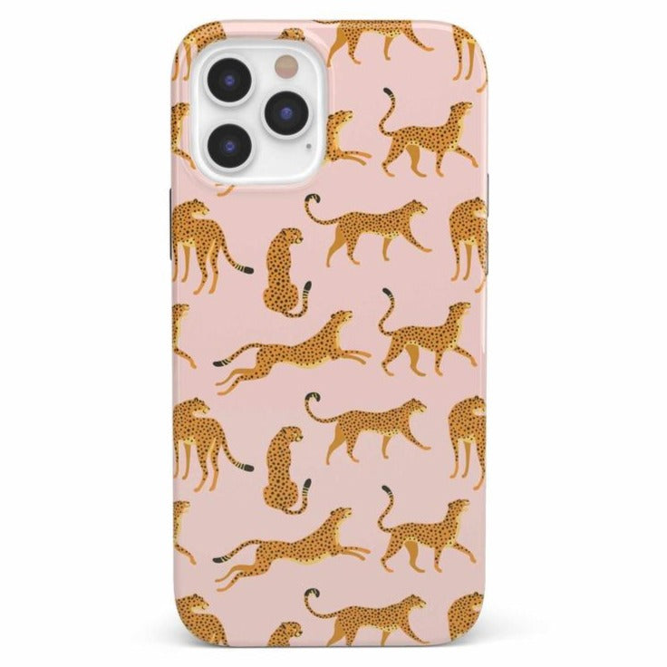 On the Prowl | Pink Leopard Print Case iPhone Case get.casely Classic iPhone 12 Pro