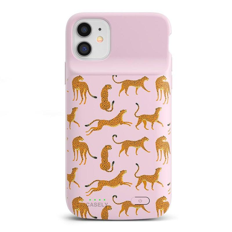 On the Prowl | Pink Leopard Print Case iPhone Case get.casely Power 2.0 iPhone 11