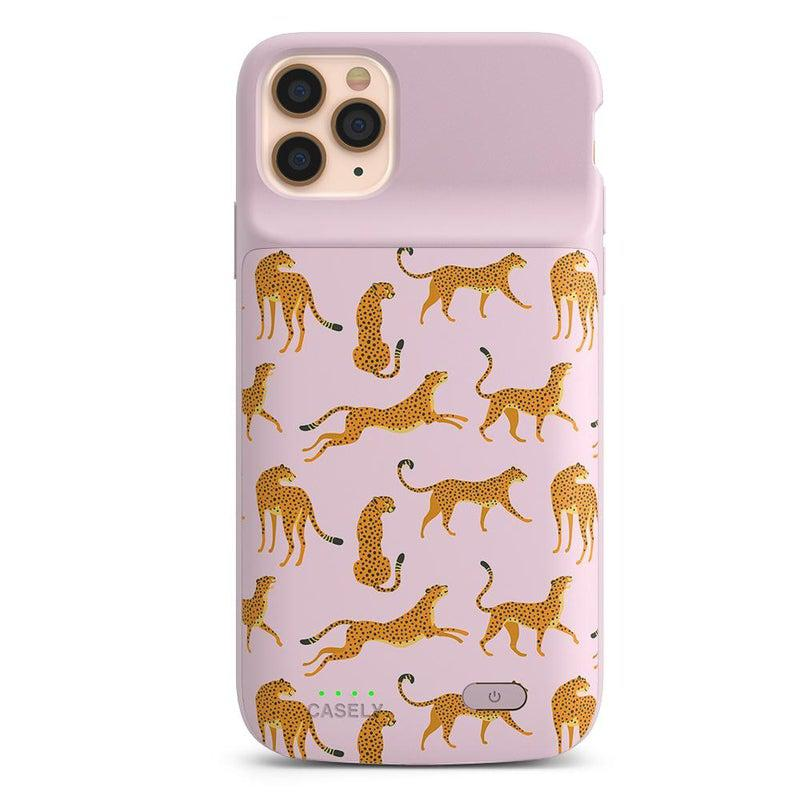 On the Prowl | Pink Leopard Print Case iPhone Case get.casely Power 2.0 iPhone 11 Pro Max