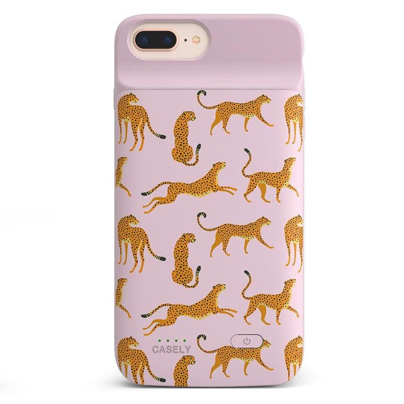 On the Prowl | Pink Leopard Print Case iPhone Case get.casely Power 2.0 iPhone 8 Plus