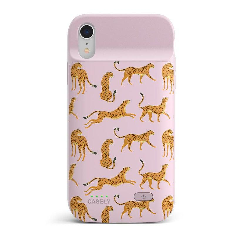 On the Prowl | Pink Leopard Print Case iPhone Case get.casely Power 2.0 iPhone XR