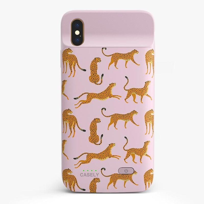 On the Prowl | Pink Leopard Print Case iPhone Case get.casely Power 2.0 iPhone XS Max