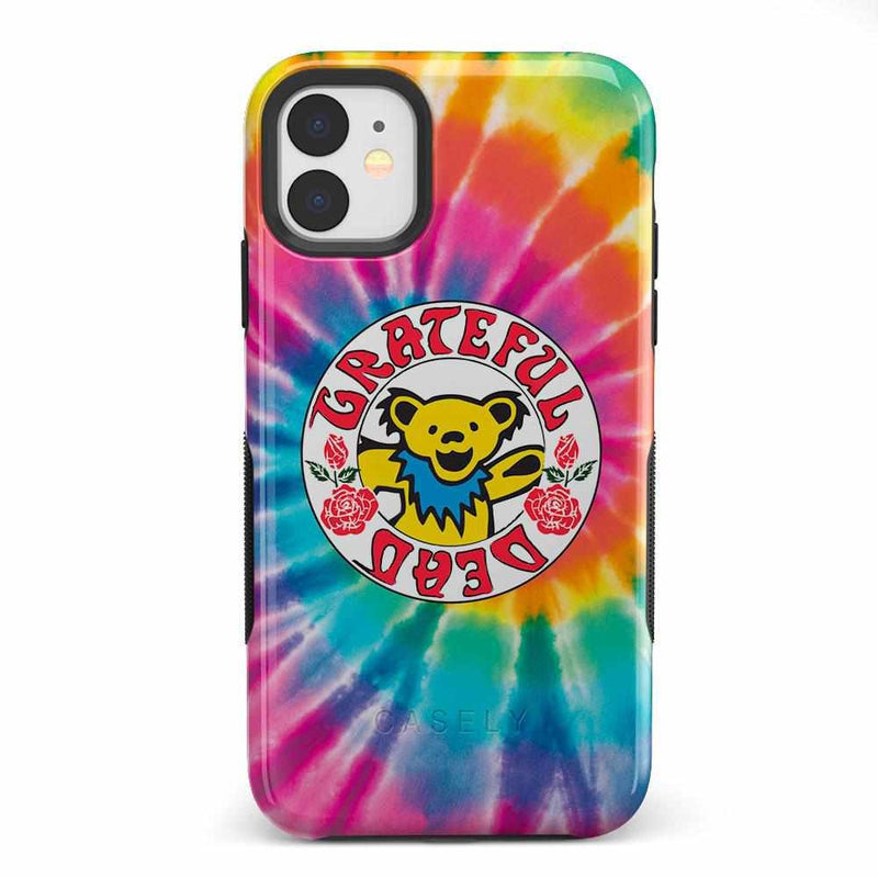 On Tour | Grateful Dead Tie Dye Sticker Case iPhone Case get.casely Bold iPhone 11