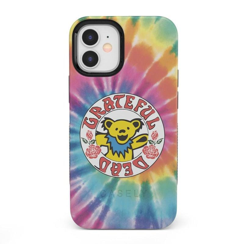 On Tour | Grateful Dead Tie Dye Sticker Case iPhone Case Grateful Dead Bold iPhone 12
