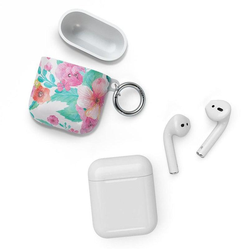 Out and About | Light Pink Floral AirPods Case AirPods Case CASELY