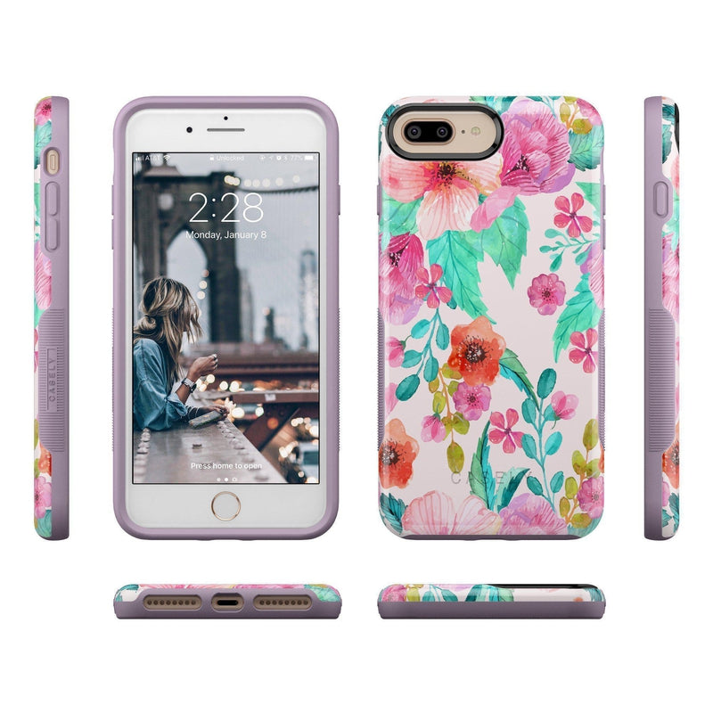 Out And About | Light Pink Floral Case iPhone Case get.casely