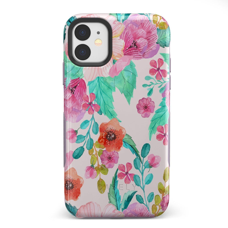 Out And About | Light Pink Floral Case iPhone Case get.casely Bold iPhone 11
