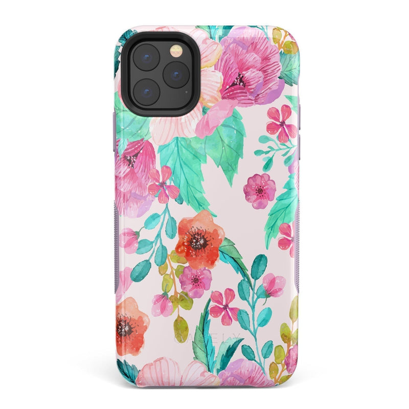 Out And About | Light Pink Floral Case iPhone Case get.casely Bold iPhone 11 Pro