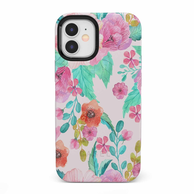 Out And About | Light Pink Floral Case iPhone Case get.casely Bold iPhone 12 Mini