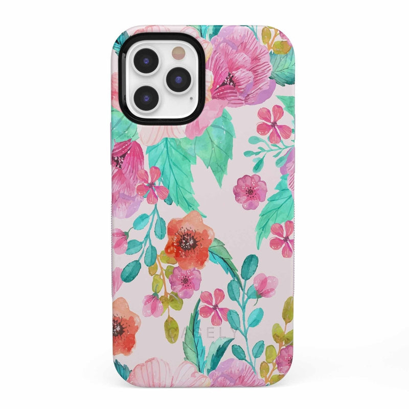 Out And About | Light Pink Floral Case iPhone Case get.casely Bold iPhone 12 Pro