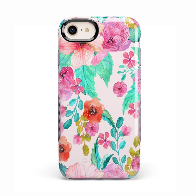 Out And About | Light Pink Floral Case iPhone Case get.casely Bold iPhone 8