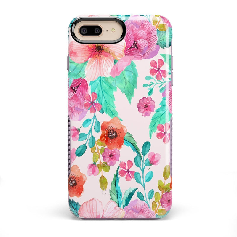 Out And About | Light Pink Floral Case iPhone Case get.casely Bold iPhone 8 Plus