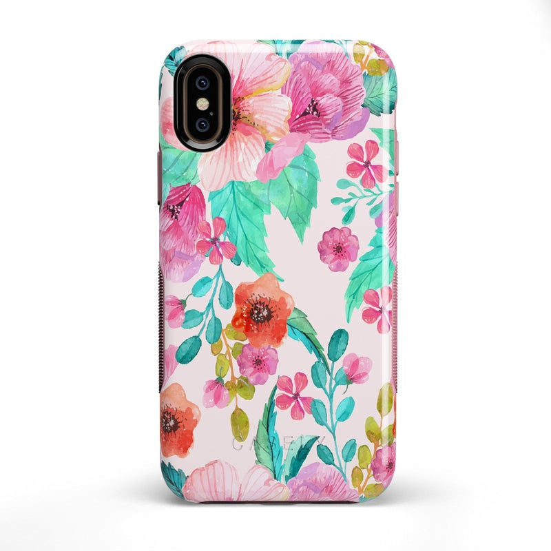 Out And About | Light Pink Floral Case iPhone Case get.casely Bold iPhone X / XS