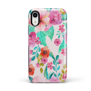 Out And About | Light Pink Floral Case iPhone Case get.casely Bold iPhone XR
