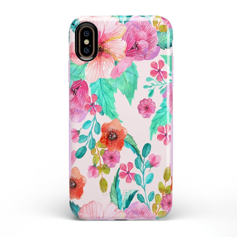Out And About | Light Pink Floral Case iPhone Case get.casely Bold iPhone XS Max
